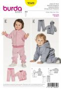 9349  Burda Pattern: Baby's Jogging Suit